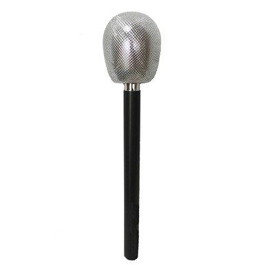 80's Glitter Microphone Halloween Costume Accessory