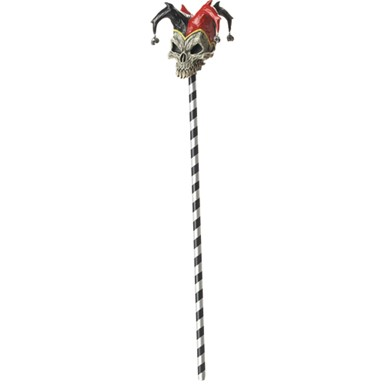 Adult 2 PC Jester Skull Cane for Halloween costume