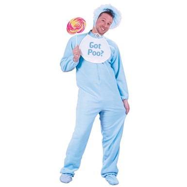 Adult Baby Costume - Blue