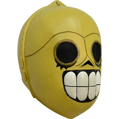 Adult Calaveritas Droide C-3PO Costume Mask