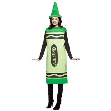 Adult Crayola Costume - Green Halloween Costume Crayon