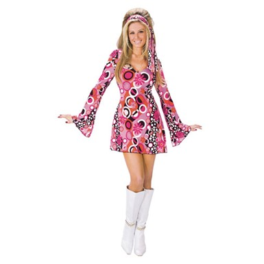Adult Feelin' Groovy Hippie Costume