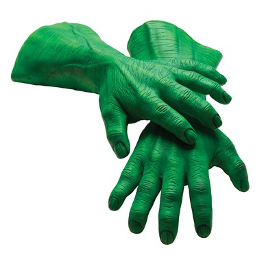 Adult Hulk Marvel Halloween Hands