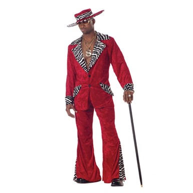 Adult Pimp Costume - Playa in the Red