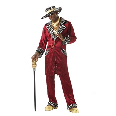 Adult Pimp Costume - Sweet Daddy Beaujolais Pimp