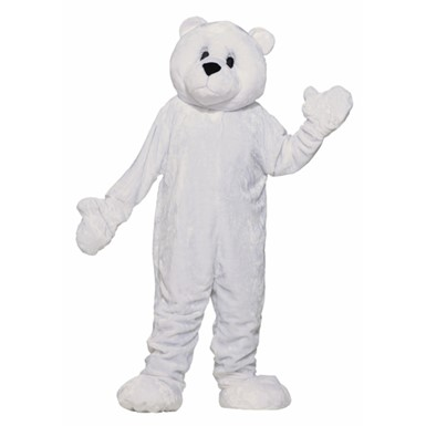 Adult Polar Bear Halloween Mascot