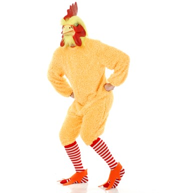 Adult Rocking Rooster Yellow Costume