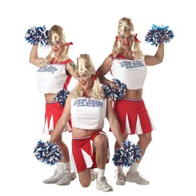 Adult Varsity Cheerleader Men's Halloween Costume