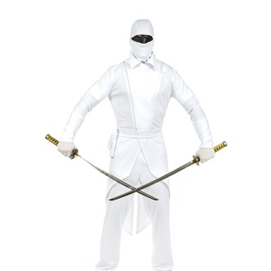 Adult White Ninja Complete Costume