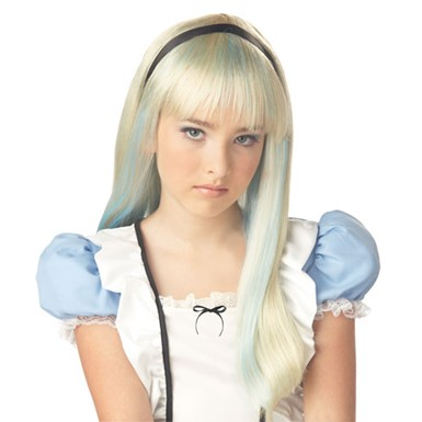 Alice in Wonderland Wig for Kids Halloween Costume