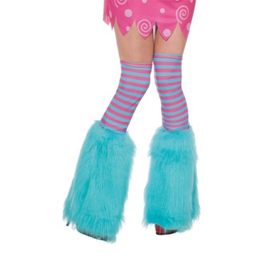 Aqua Fluffies Leggings - Girls