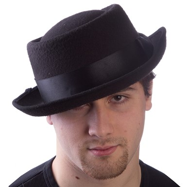 Badness Black Pork Pie Hat