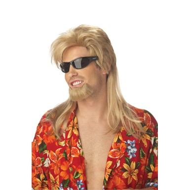 Beach Bro Surfer Blonde Wig for Halloween Costume