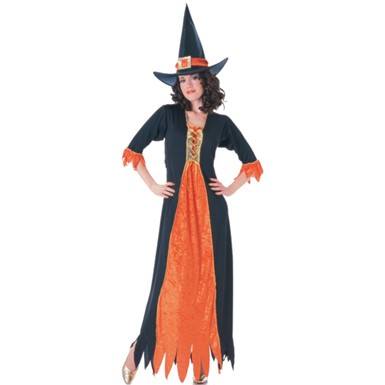 Black and Orange Witch Costume - Gothic Witch