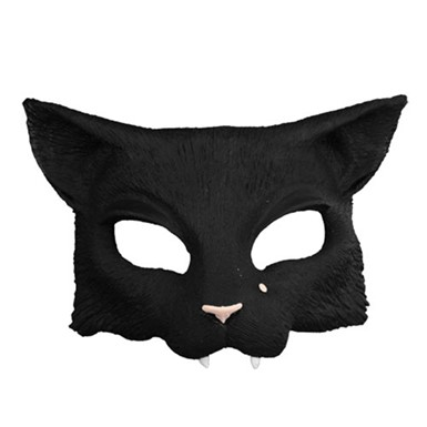 Black Cat Mask - Half