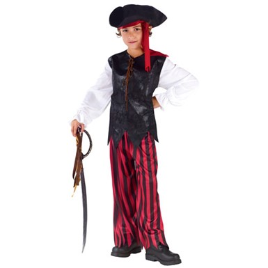 Boys Caribbean Pirate Buccaneer Halloween Costume