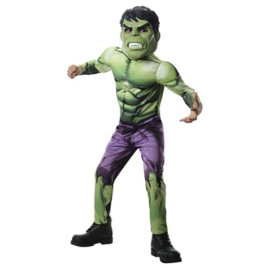 Boys Deluxe The Hulk Muscle Chest Costume