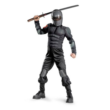 Boys GI Joe Snake Eyes Costume