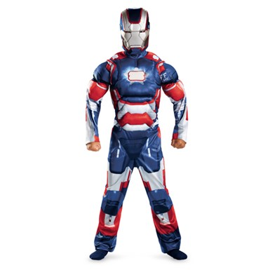 Boys Iron Man Patriot Muscle Costume