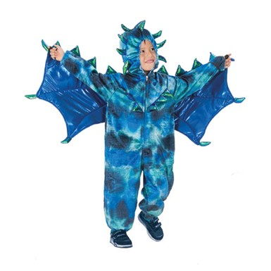 Boys Toddler Blue Dragon Costume