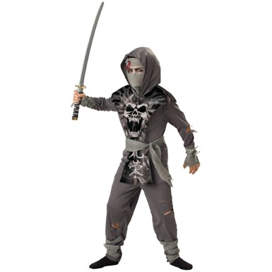 Boys Zombie Ninja Horror Halloween Costume