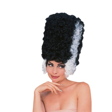 Bride of Frankenstein High Black and White Wig