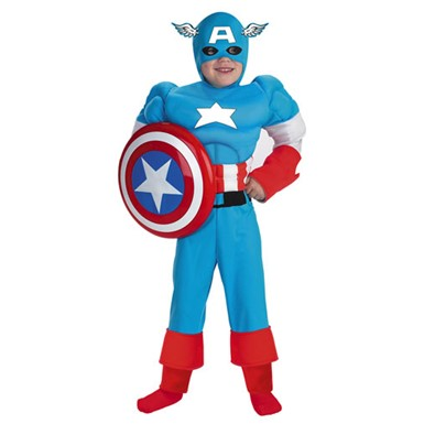 Captain America Muscle Costume - Child