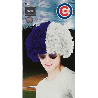 Chicago Cubs Wig MLB Baseball Halloween Accessory