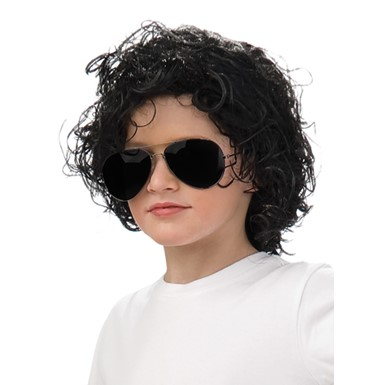Child Michael Jackson Bad Album Curly Wig