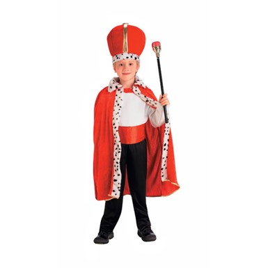 Child's King Costume - Red
