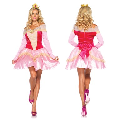 Classic Disney Princess Aurora Womens Halloween Costume