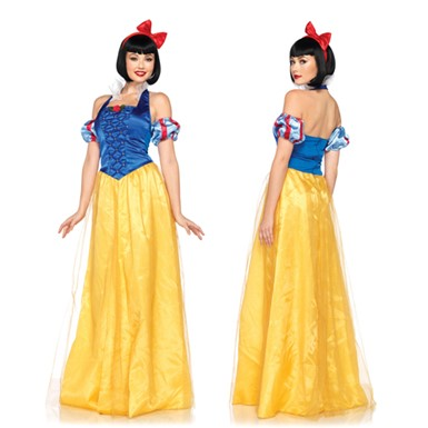 Classic Disney Princess Snow White Gown Womens Costume