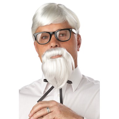 Colonel Sanders Wig And Mustache Costume Accessory