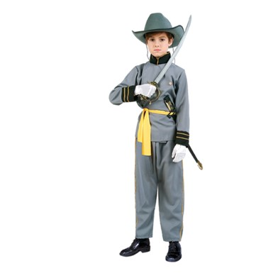 Confederate Officer Soldier Child Halloween Costume