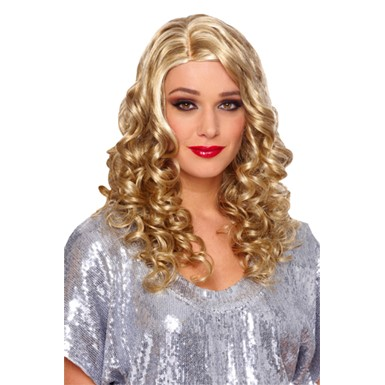 Country Girl Deluxe Curly Blonde Wig
