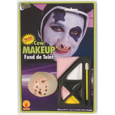 Cow Makeup Kit with Nose Halloween Costume Accessories