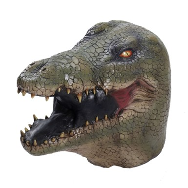 Deluxe Alligator Latex Mask Halloween Costume Accessory