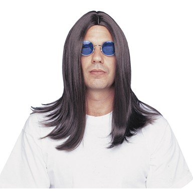 Deluxe Ozzy Osbourne Black Sabbath Long Costume Wig