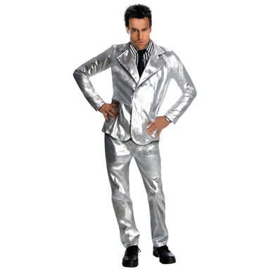 Derek Zoolander Silver Suit Adult Movie Halloween Costume