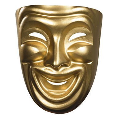 Drama Mask Gold - Comedy