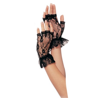 Fingerless Wrist Gloves - Black