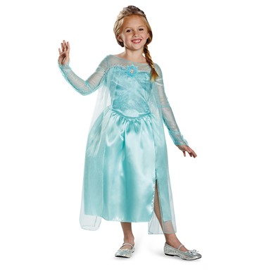 Frozen Girls Elsa Snow Queen Costume