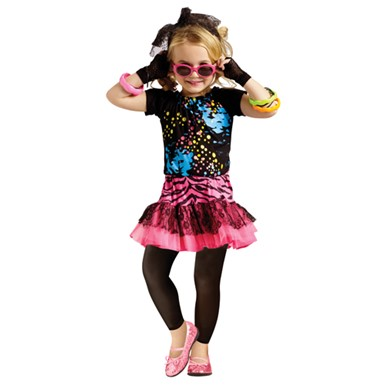 Girls 80's Pop Star Costume