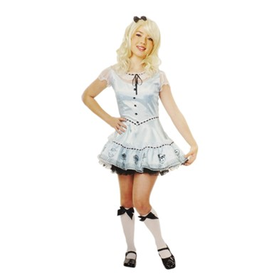 Girls Alice Sky Blue Costume