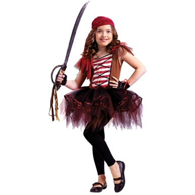 Girls Ballerina Pirate Costume