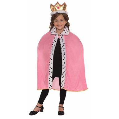Girls Cape and Crown - Pink Queen