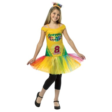 Girls Crayon Box Dress Costume - Crayola