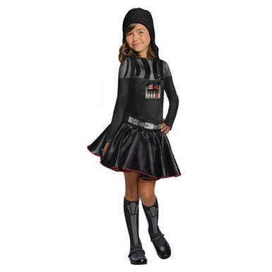 Girls Darth Vader Halloween Costume