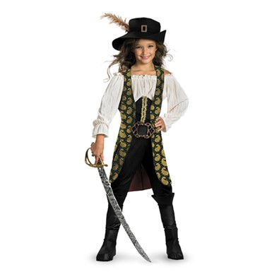 Girls Deluxe Angelica Caribbean Pirate Costume