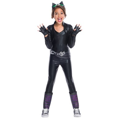 Girls Deluxe Catwoman DC Super Hero Girls Costume